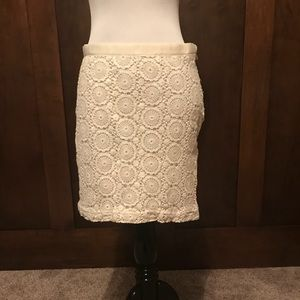 Banana Republic White Lace Skirt